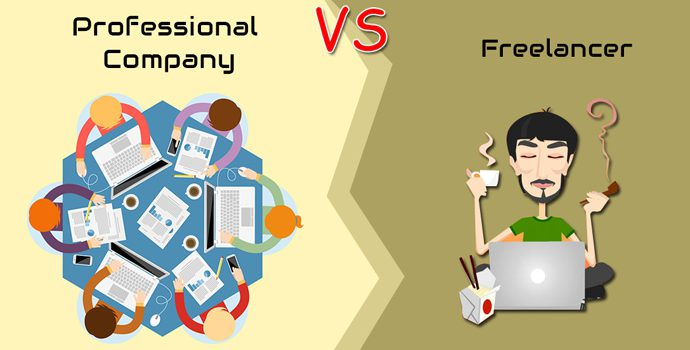 Professional company vs. Freelancer